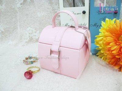 ☆[Hankaro]☆流行粉嫩實用小提箱造型飾品收納盒