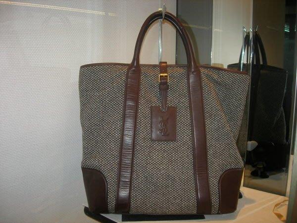 典精品 * Saint  Laurent  YSL  真品 肩背包 側背包 拖特包 側背包 tote bag