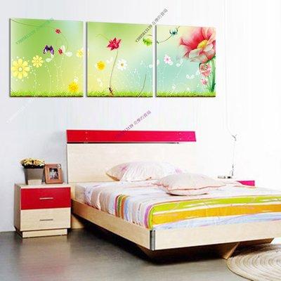 【30*30cm】【厚0.9cm】經典花卉-無框畫裝飾畫版畫客廳簡約家居餐廳臥室牆壁【280101_360】(1套價格)