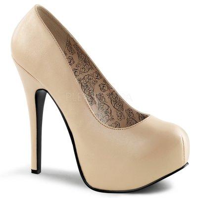 Shoes InStyle《五吋》美國品牌 PINK LABEL 原廠正品厚底高跟包鞋 有大尺碼 11-16碼『駝色』