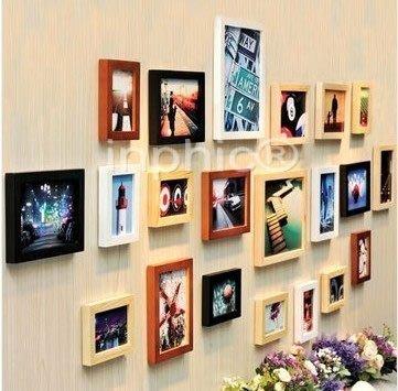 INPHIC-框畫 21框超大創意實木照片牆歐式經典家居裝飾相框牆畫框組合
