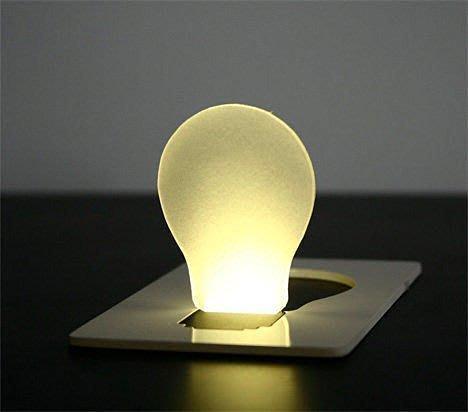 全新 創意超薄卡片燈 卡片燈泡小夜燈 led卡片燈
