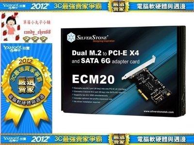 【35年連鎖老店】SilverStone ECM20 PCIe介面硬碟擴充卡有發票/支援一組M.2 SSD