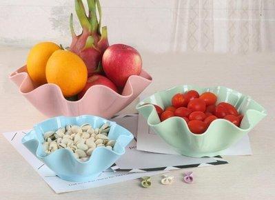 ZIHOPE 果盤-水果盤塑料果盤創意現代客廳北歐拼盤子簡約茶幾歐式家用歐式兒童ZI812
