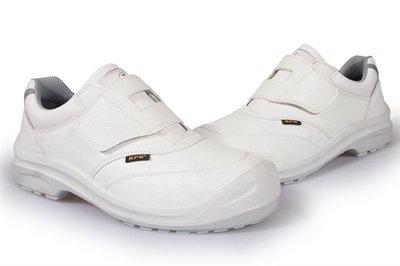 【安全鞋專賣店】KPR尊王安全鞋,防靜電黏貼型防潑水工作鞋 塑鋼頭安全鞋(L-055白色/男女款)