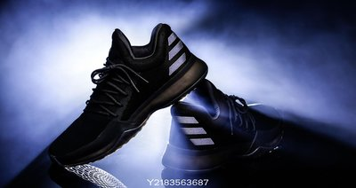 現貨  ADIDAS HARDEN VOl.1 XENO 哈登 黑色 反光 籃球 B39500 愛迪達 全黑 休閒慢跑鞋