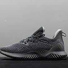 D-BOX Adidas Alphabounce EM 深灰色 編織 潮流個性 跑步鞋 男運動鞋