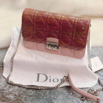 Dior miss dior 超正拼色小羊皮鏈包 保證正品
