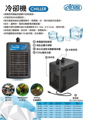 魚樂世界水族專賣店# 台灣 同發 IPO微電腦冷卻機 1/8HP 適合水量150~250L以下 原廠一年保固