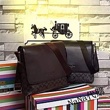 NaNa代購 美國正品 COACH 71765 黑色/咖啡色 新款 印花 單肩包 斜跨包 側背包 休閒時尚 附代購憑證