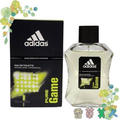 ADIDAS PURE GAME 愛迪達 極限挑戰 運動男性香水 100ml╭✽香草美人✽╮