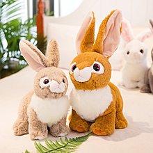 佈谷林~兔子毛絨玩具可愛仿真兔兔公仔小白兔玩偶兒童布娃娃小號女生禮物