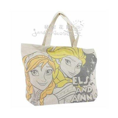 日本進口冰雪奇緣/艾莎/安娜 Anna Elsa Frozen 帆布托特包/購物袋/書包--秘密花園