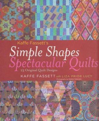 美國拼布書籍~Simple Shapes Spectacular Quilts壯觀有簡單的形狀 #8378