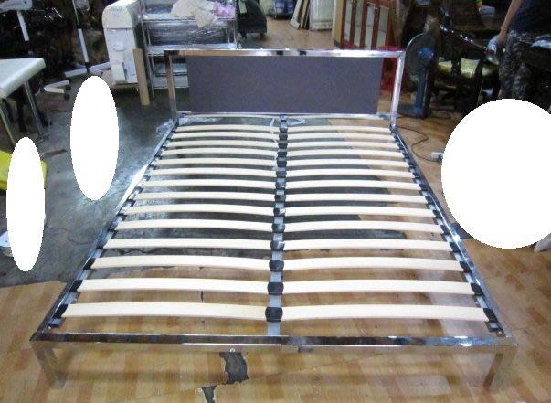 ㊖華威搬家=更新二手倉庫㊖中古IKEA風 5尺標準雙人床床架床框組合床~双7  收購回收二手傢具