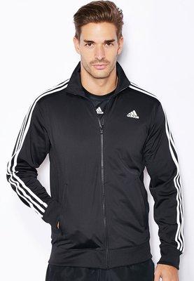 Adidas男 CLIMALITE經典 基本款 三條線 慢跑 訓練 針織外套 立領夾克 S88116 黑白 現貨 公司貨
