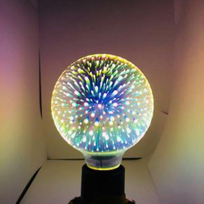 5Cgo【代購】設計師聖誕樹氣氛小夜店LED創意煙花烟火流星燈泡G125七彩立體藝術E27 3D十種造型 另十款燈座含稅