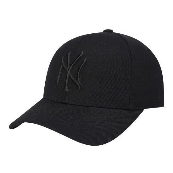 特價【韓Lin連線代購】韓國 MLB--NY刺繡黑色棒球帽 CPIR CURVE ADJUSTABLE CAP