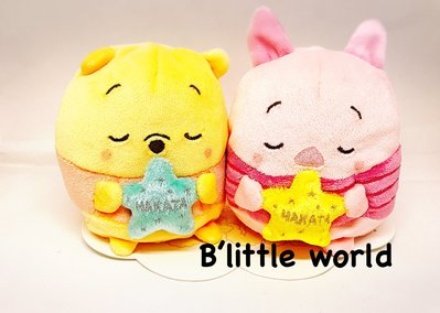 *B Little World * [現貨]東京迪士尼專賣店限定商品/維尼小豬ufufy玩偶/東京連 線