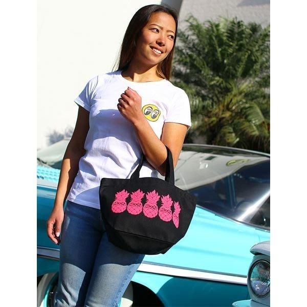 (I LOVE樂多) MOONEYES 夏日熱帶鳳梨風格 立體泡棉印刷 托特包 便當袋 手提袋