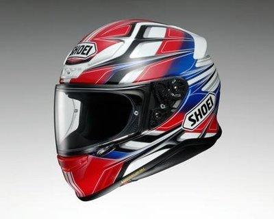 台中皇欣!!正日本名牌 SHOEI 最新全罩安全帽  Z-7 RUMPUS !!加送頭套!!免運費!!