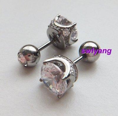 水晶鋼針耳環 單鑽耳環 Moledy款 單顆水鑽貼耳 誠品書局 銀世代 Sliver.g 誠品生活