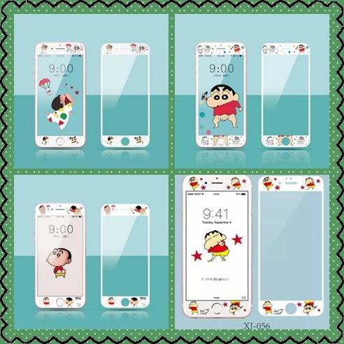 i8保護貼Apple螢幕保護貼正韓國版日本蠟筆小新可愛卡通iphone6s鋼化膜蘋果7plus手機i8p全屏前貼膜11-