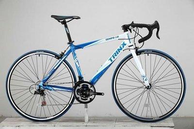 送3大贈品-TRINX TEMPO1.0 鋁合金 彎把公路車(藍白) ~特價5500元(限自取)-【台中-大明自行車】