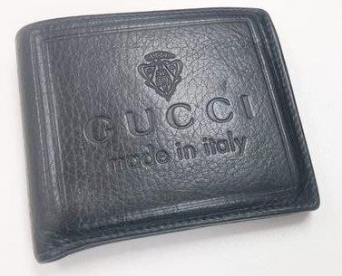 絕對真品 90%新【Gucci made in italy】高貴 黑色 真皮 錢包 銀包 Leather Wallet Purse(原$3,580)意大利