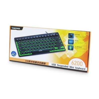 【S03 筑蒂資訊】E-SENSE 6200 USB 懸浮按鍵迷你鍵盤 13-EKB620 BK