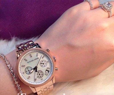 ☆美國Michael Kors代購網☆ MK錶 歐美時尚玫瑰金三眼計時手錶 腕錶 MK5026 美國正品代購 附購證