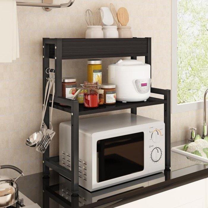 微波爐置物架2層廚房收納烤箱架台面架子電飯煲架雙層家用廚房架WY