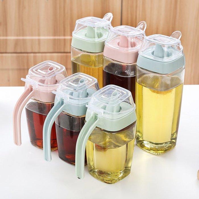 衣萊時尚-家用大號玻璃油壺防漏油罐帶蓋油瓶廚房用品調味瓶醬油醋瓶調料瓶(買多件有優惠)