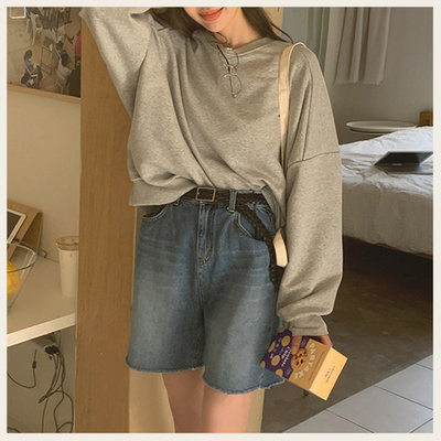 。Styleon。正韓。復古刷色深青牛仔短褲。韓國連線。韓國空運。0331。【ic29mocb3411】
