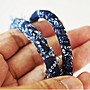 X10   藍染 抽鬚 編織 日式 手環 BRACELETS 金屬銅扣