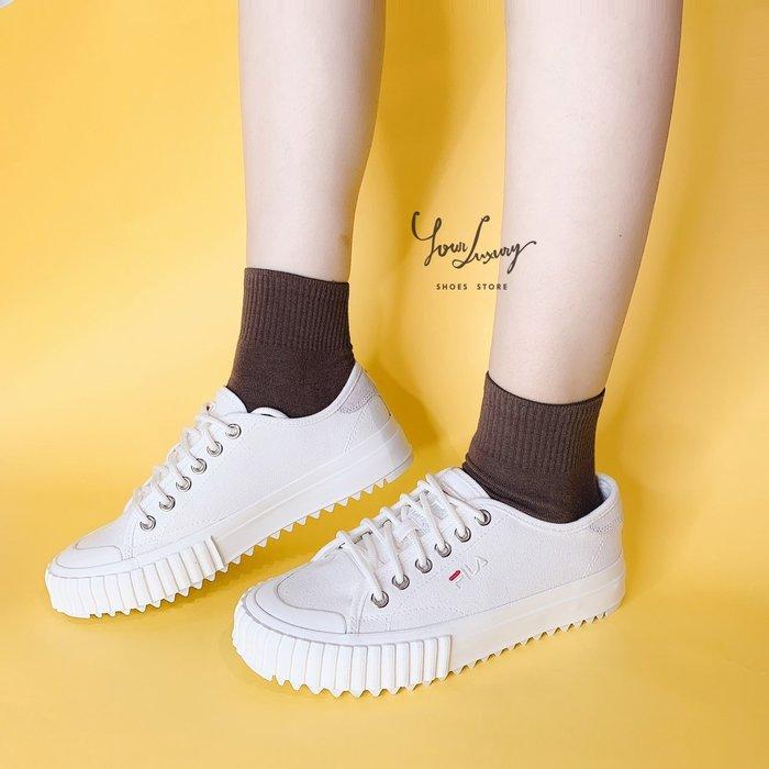 【Luxury】韓國代購 FILA classic kicks T 鋸齒 餅乾鞋 平底 帆布鞋 休閒鞋 男女鞋 情侶鞋