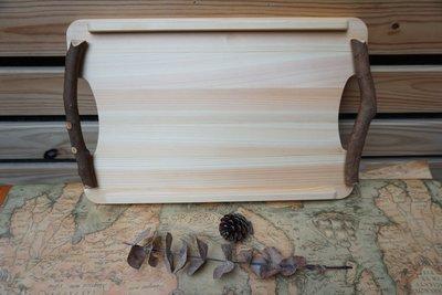 日本純手工檜木山茶樹枝砧板/托盤(兩用) (大)