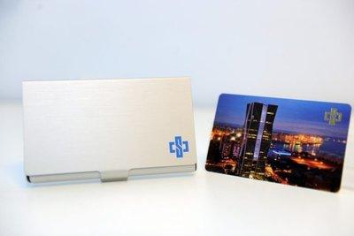 中鋼 股東會紀念品 卡幸福儲卡鋁盒+一卡通(50元)+鋁製名片盒