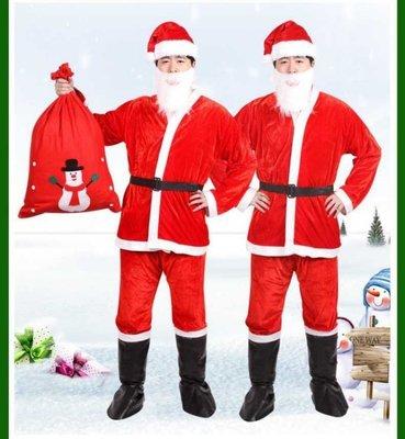 (快速出貨)質感 金絲絨 毛絨 聖誕老公公服裝,聖誕節服裝,聖誕舞會,聖誕老人,聖誕服(聖誕節、聖誕禮物、交換禮物、禮物