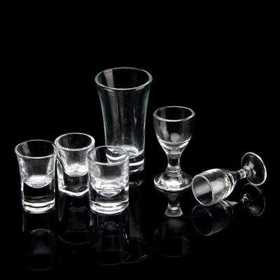 收納 特價小物 白酒杯玻璃小號高腳杯一口杯烈酒杯加厚子彈杯透明厚底小酒杯酒盅單筆訂購滿200出貨唷