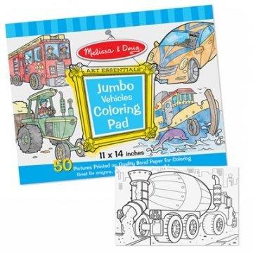 【小糖雜貨舖】美國 Melissa & Doug 大型 兒童 繪圖本 (交通工具)
