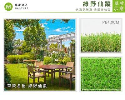 【新品上市】【草皮達人】人工草皮PE-4cm 綠野仙蹤 每平方公尺NT800元(價格已含稅,量大可議) 園藝 裝潢 設計