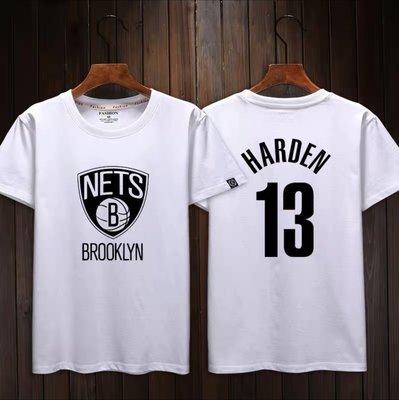 🌈大鬍子James Harden哈登短袖棉T恤上衣🌈NBA籃網隊Nike耐克愛迪達運動籃球衣服T-shirt男467