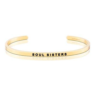MANTRABAND 美國悄悄話手環 Soul Sisters 閨密 閨蜜 金色手環