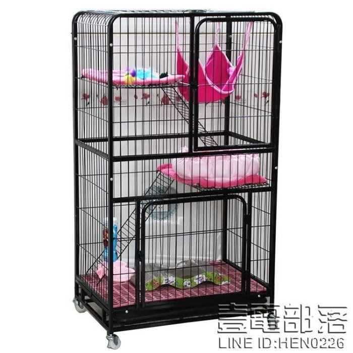 貓籠子貓別墅二層三層貓窩雙層貓舍大型方管三層貓籠子