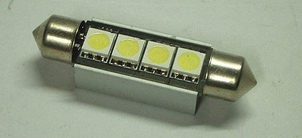 光光賣場 can-bus 解碼 雙尖 42mm 4 SMD LED 車解碼燈 消除故障碼
