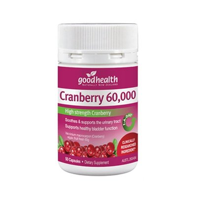 正品 紐西蘭 好健康 蔓越莓 50顆 60,000mg Goodhealth 女性保健