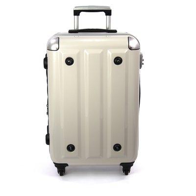 ~aaronation~24吋~MOM 品牌 PC鋁框旅行箱 行李箱 RU~3008~24~白  賣場1
