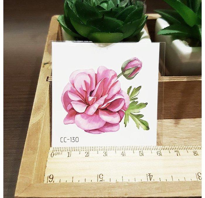 【萌古屋】花朵單圖CC-130 - 防水紋身貼紙刺青貼紙K38