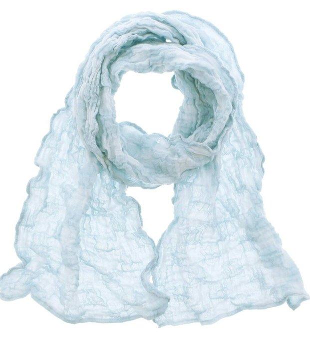 天使熊雜貨小舖~日本Karuri今治毛巾圍巾(淺藍色) 日本製    全新現貨